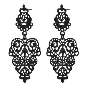 Fashion-Women-Alloy-Black-Long-Bohemian-Pierced-Dangle-Drop-Earrings-Jewelry-New