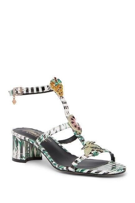NANETTE NANETTE NANETTE nanette lepore Diane Crystal Embellished Tropical Sandal Size 7 a4a045