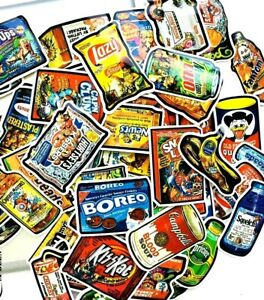 New-20-Unusual-Large-Spoof-Food-and-Drink-Art-Stickers-Laptop-PC-039-S-etc-Wacky