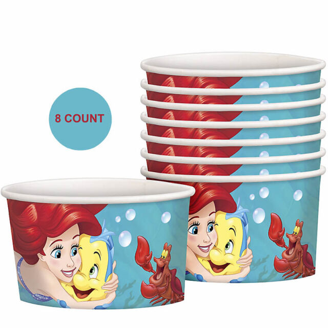 Little Mermaid Ariel Party Supplies TREAT CUPS Pack Of 8