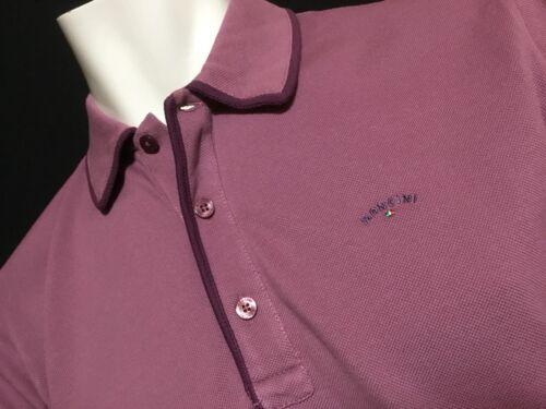 "Mancini  Large  Chest Measures 44""  Grape Homer Polo Shirt  RRP £89.99"