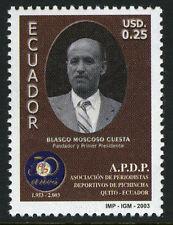 Ecuador 1662,MNH.Blasco M.Cuesta, founder of Pichincha Sports Writers Assoc.2003