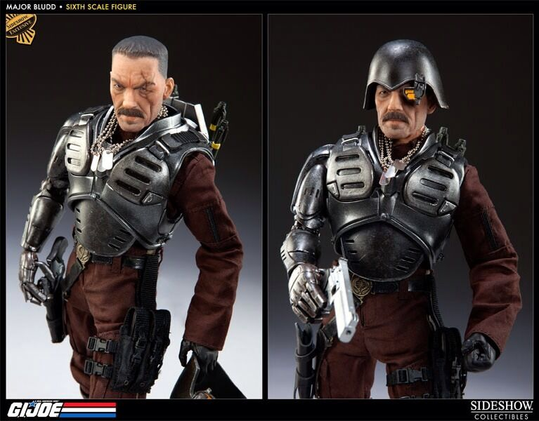 Sideshow GI Joe Exclusive Major bluedd NEW MIB With Alt Head 1 6 Scale