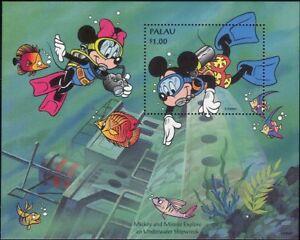 Palau-1994-Disney-Topolino-Immersioni-naufragio-Cartoni-Animati-Animazione-1v-M-S-b6070c