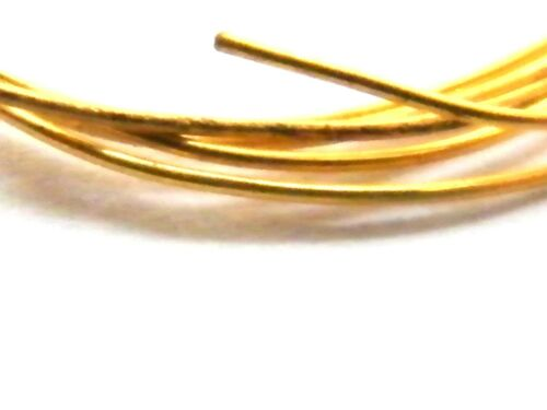 9ct Yellow Gold Round Wire -Half  Hard 0.80mm x 100mm-Jewellery Making 20-Gauge