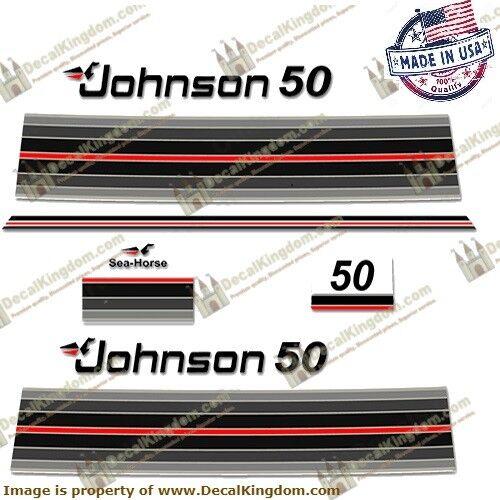 Johnson 1982 Sea Horse Outboard Engine Decal Multiple HP 3M Marine Grade