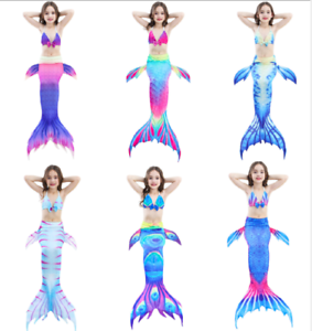 2019 Beautiful Girls Swimming suit Princess Little Mermaid Swimsuit Swimwear ZG9