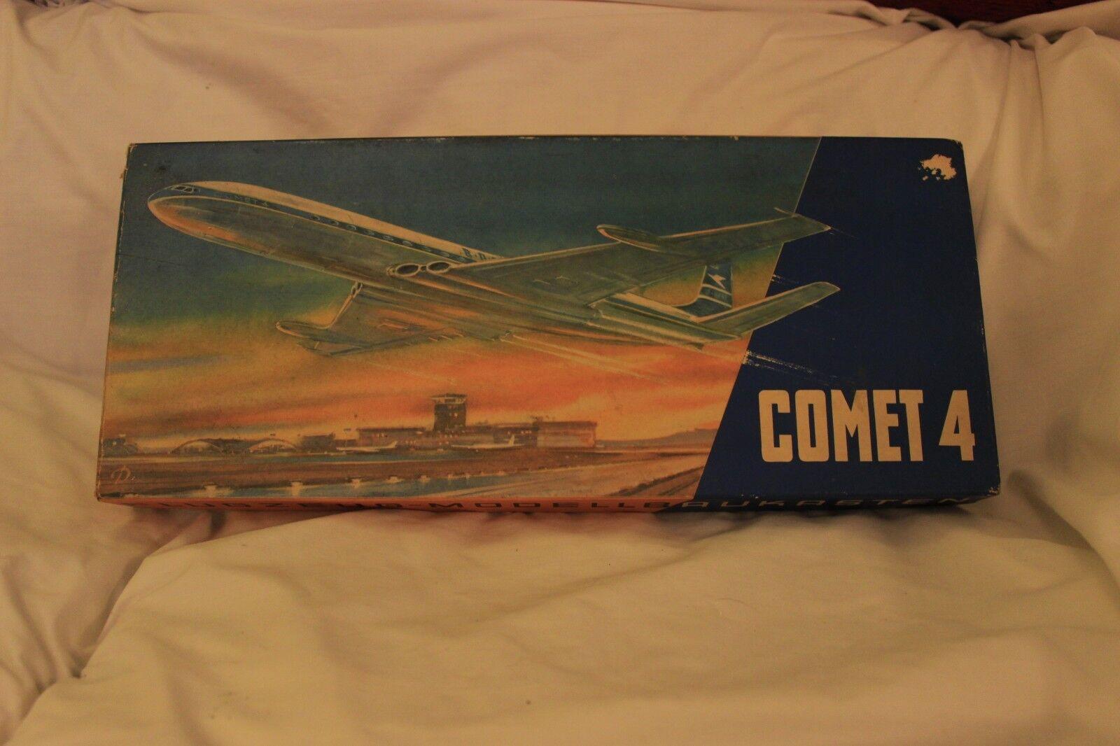 Comet 4 Flugzeug Modellbaukasten 1 100 Vintage Box 1966 model kit