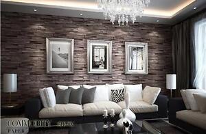 Details About Rustic Modern 3d Room Faux Brick Wall Wallpaper Bedroom Vinyl Waterproof Brick W