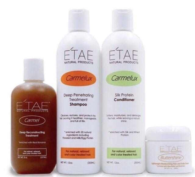 ETAE E'TAE CARMEL TREATMENT, SHAMPOO, CONDITIONER & BUTTERSHINE 4PCS SET