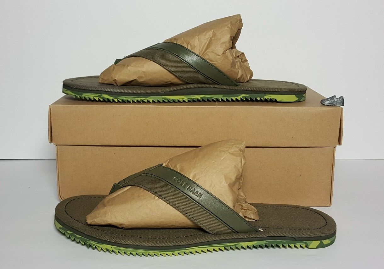 COLE HAAN hombres  MEYER THONG   FATIGUE COLorojo NEW IN BOX TallaS 7 & 7.5   C12430