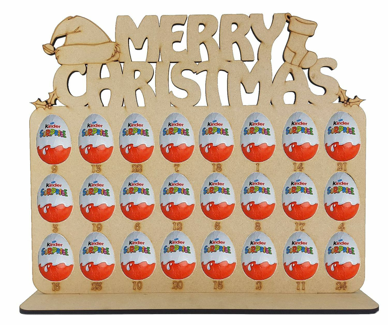 Advent Calendar Joyeux Noël avec Kinder Noël Formes s'adapte Kinder avec Oeuf 8167de