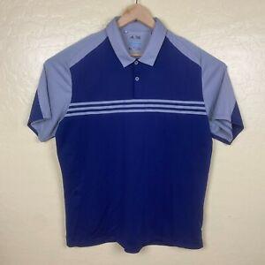 Adidas-Golf-Polo-Shirt-Mens-Size-XL-Blue-Gray-Climacool-Short-Sleeve-Collared
