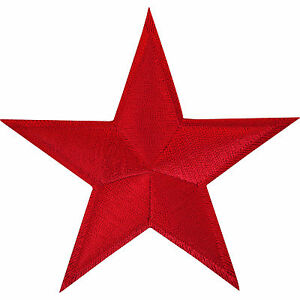 Red-Star-Embroidered-Iron-Sew-On-Patch-Applique-Badge-Motif-Russia-China-USSR
