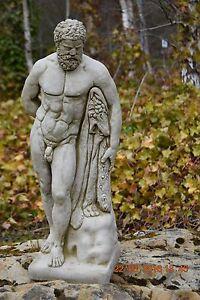 Image Is Loading Hercules Amazing Large Statue Stone Cast Handmade Garden