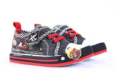 Nueva Caja Chicos Zapatos de lona zapatillas plantillas de cuero real de Bebé Niño Talla 8UK