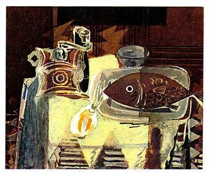 BRAQUE-1945-Lithograph-COA-Georges-Braque-Rare-Edition-DELICIOUS-RARE-ART-PRINT