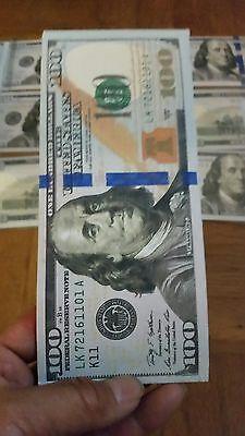 Brand New US 100 Dollar Bill Money Bi-Fold Canvas Wallet new design $100 wallet