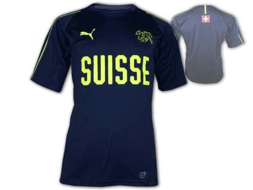 PUMA SUISSE training shirt bleu foncé Suisse football Maillot Fan Jersey EM WM