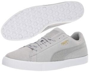 Puma-Golf-Suede-G-Golf-Shoes-RRP-100-ALL-SIZES-Quarry-Grey