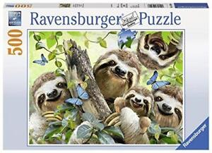 Ravensburger-Jigsaw-Puzzle-SLOTH-SELFIE-Fun-Smiling-Animals-500-Pieces