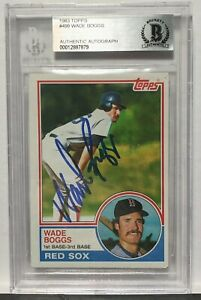 1983 Topps Wade Boggs Signed Auto Autographed BAS Beckett HOF COA Authentic