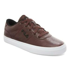 Mens-Fila-Red-Tan-Brown-Distressed-Athletic-Gym-Shoes-Casual-Fashion-Sneakers