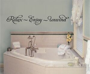 Image Is Loading Relax Enjoy Unwind Vinyl Wall Decal Stickers Letters