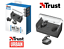 AURICOLARI-TRUST-DUET-BLUETOOTH-WIRELESS-con-base-ricaricabile-cuffie-stereo miniatura 1