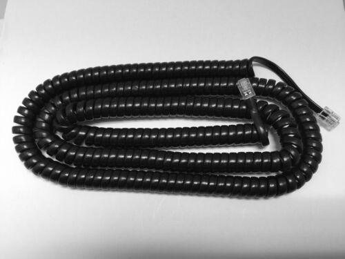 NEW 25 Ft Long Handset Receiver Coil Cord ITT Cortelco Desk /& Wall Phone Black