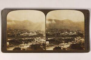 Venezuela-Caracas-Panorama-Foto-Stereo-Vintage-Citrato-1904