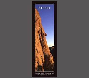 Details About Effort Inspirational Motivational Rock Climbing Wall Poster Print