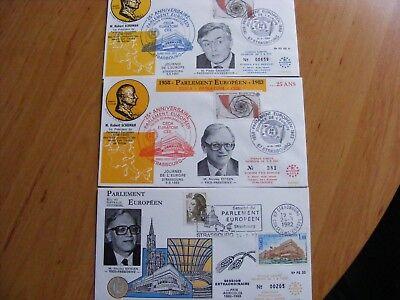 3 Fdc Parlement Europeen 1982-83