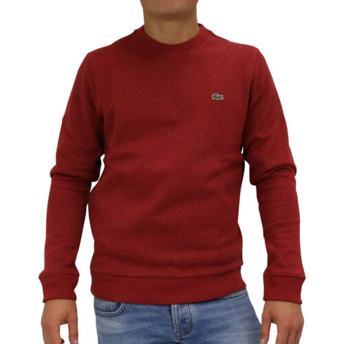 Lacoste Sweatshirt Shirt Pullover Pulli Herren SH9203 BZ7 Rot