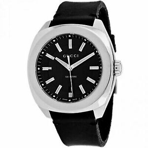 702fb38064d Gucci Gg2570 Black Dial Leather Strap Men s Watch YA142206 for sale ...