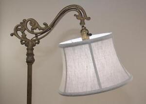 Image Is Loading Bridge Floor Lamp Shade Shallow Drum Natural Fine