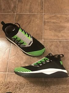 93aaeeac4be710 PUMA Tsugi Jun Shoes Men s Size 11 Black  Green  White 365489-09