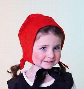 Rotkaeppchenhaube-fuer-Kinder-Rotkaeppchen-Haube-Rot-Kaeppchen-Muetze-Karneval