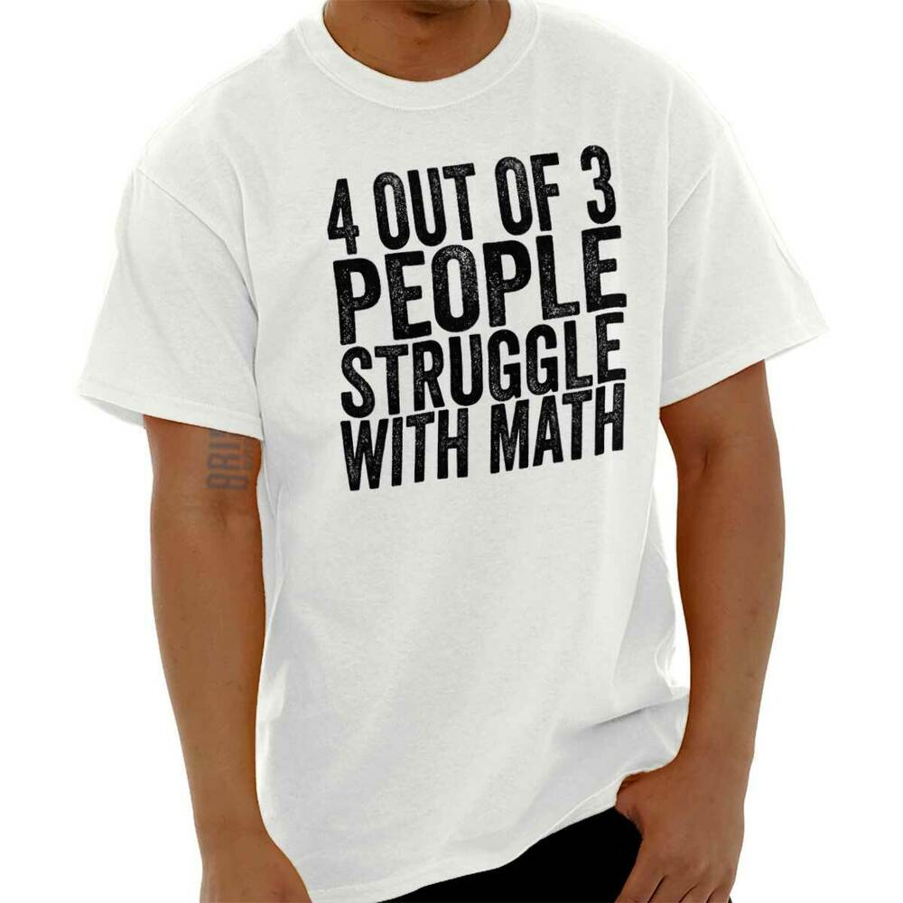 4 Des 3 Personnes Struggle With Math Nerd à Manches Courtes T-shirt Tees Tshirts