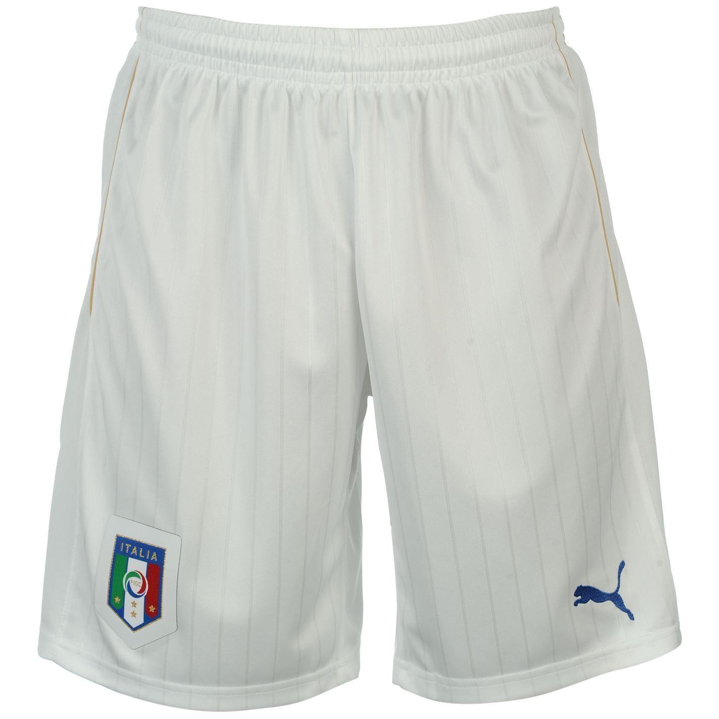 Puma  Home Shorts 2016 Mens White bluee Football Soccer Short