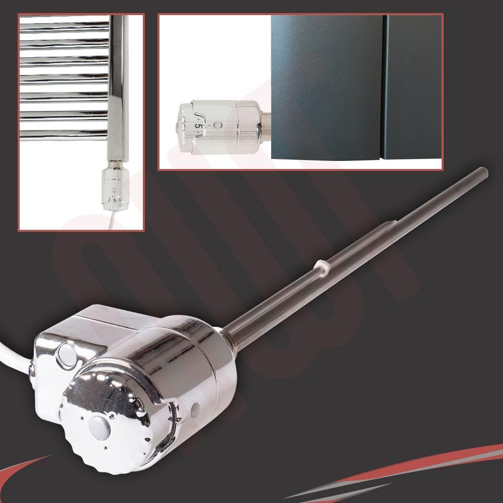 Chrome thermostatique porte-serviettes radiateur chauffage éléments (150W, 300W & 600W)