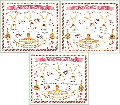 Susan Branch PLAY TIME Scrapbook Stickers 3 Sheets FUN Exercise