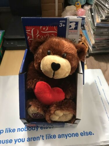 """USPS USA Forever 2012 Postage Love Stamp Teddy Bear Plush 9/"""" Toy"""