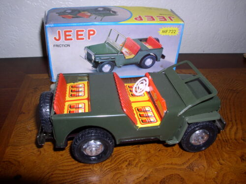 "Vintage Friction Jeep #MF722 with Box 6 12"" Long Made in China"