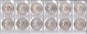CB633-Australia-1927-Canberra-Florin-Choice-Unc-per-coin-ex-Mint-Roll