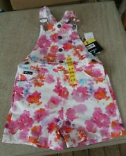 Pink Floral Girls Tractor brand Jeans Summer Cotton Short Dungarees