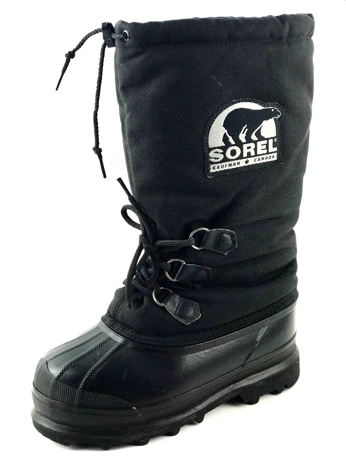 Sorel-Glacier Snow-Boots-Black-Mens / Womens Boot Men's US.7 Wmn's US.9