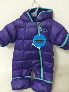 4993b9863c8d New Columbia Baby Girls Snowsuit Size 3-6 Months Purple Baby ...