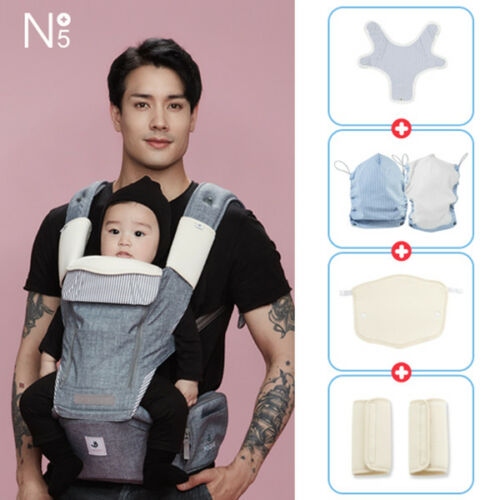 POGNAE NO5 PLUS all in one baby carrier-denimgray