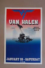 Van Halen Concert Tour Poster 1984 Biloxi Mississippi #2